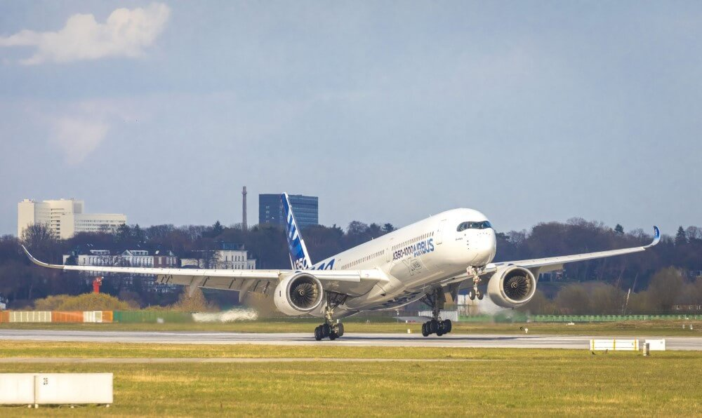 Airbus A350 1000 taking off