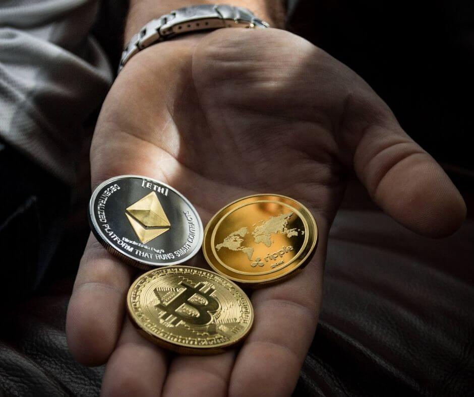 Cryptocurrency in hand