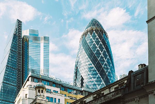 London financial district the gherkin