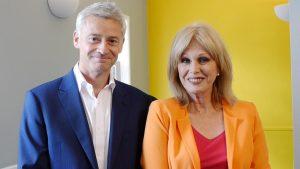 Neighbourly founder Nick Davies (left) with Joanna Lumley