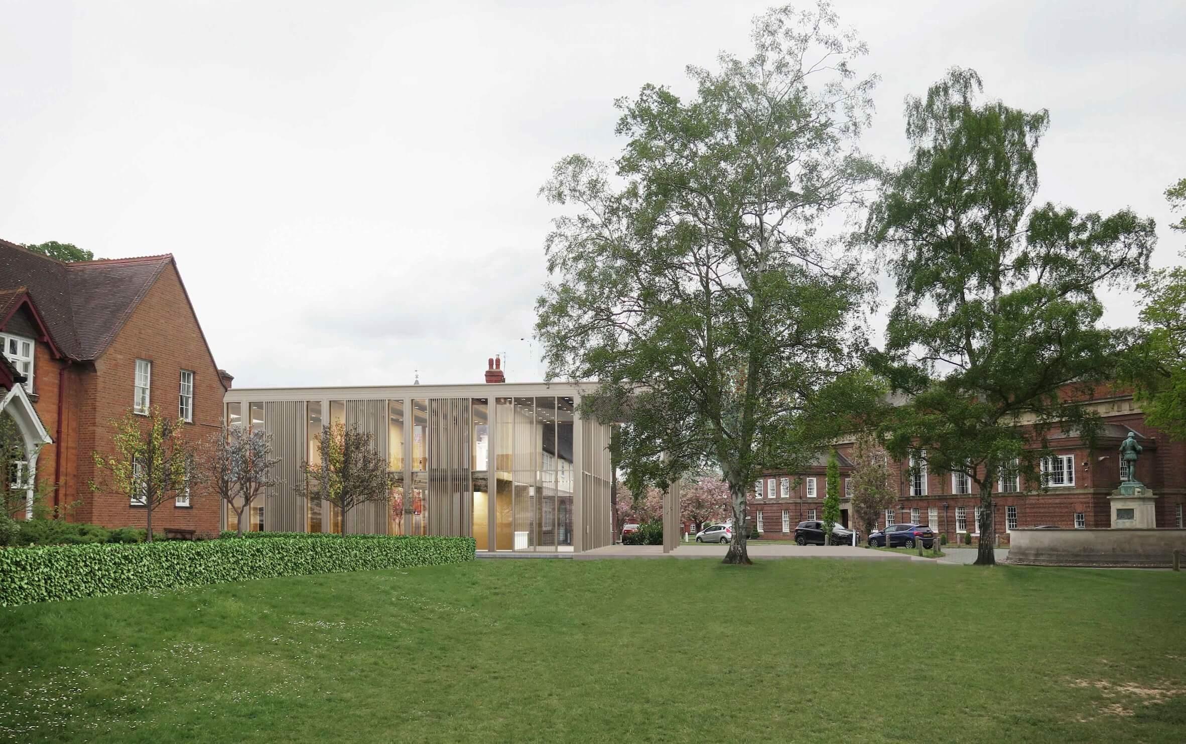 Proposed new look Ashton Theatre at Shrewsbury School. Credit- Glenn Howells Architects