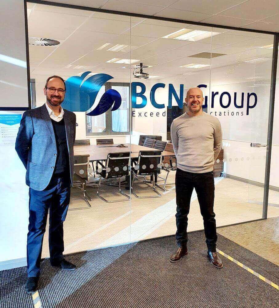 Simon Kelf, CEO of BCN Group, Simon Heyes, CEO of Xicon Cloud