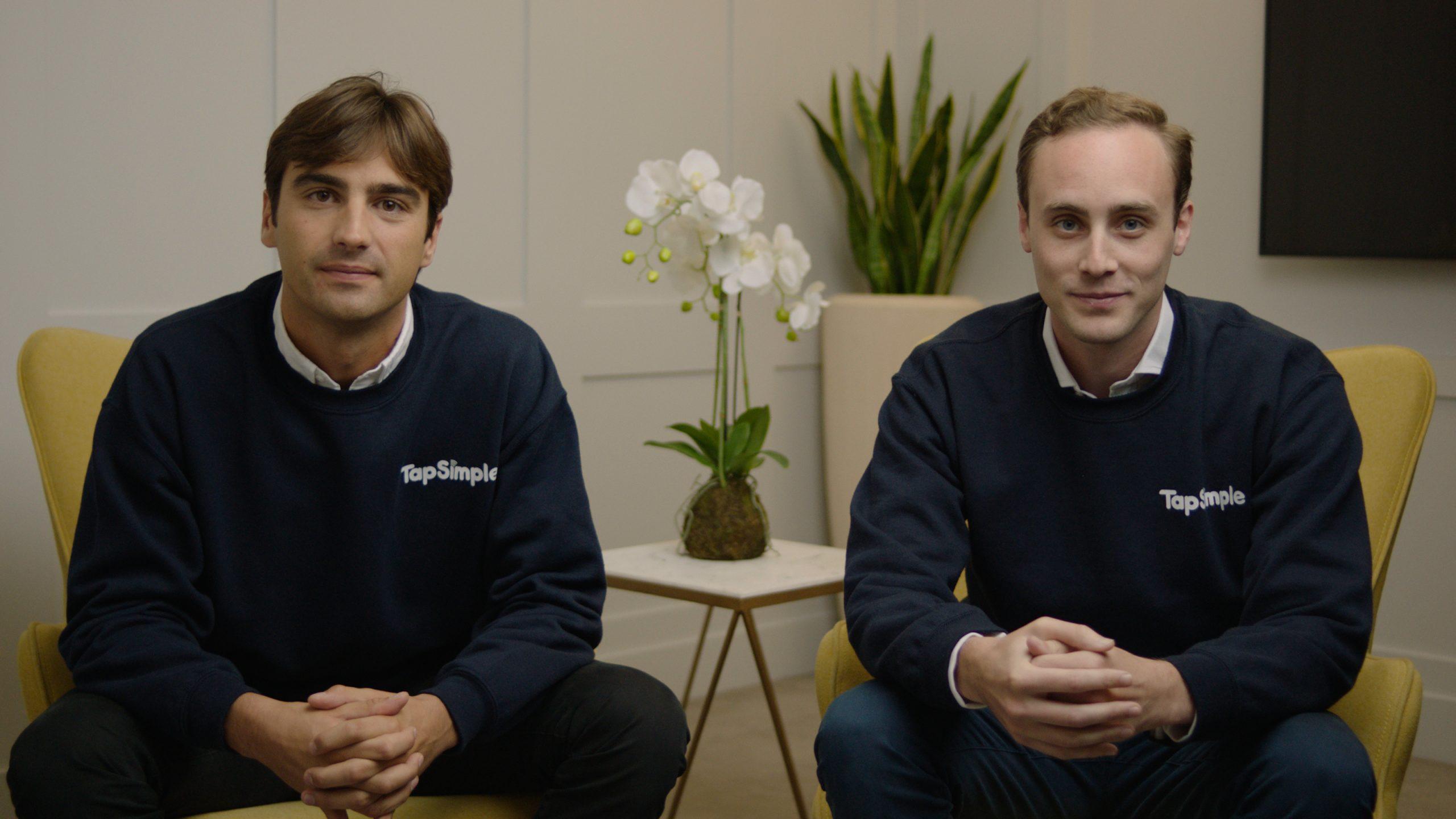 TapSimple co-founders Alex Coleridge and Tom Montague