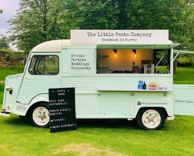 The Little Pasta Company Van