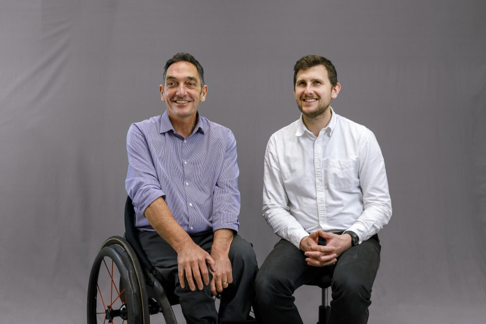 Toyota Mobility Challenge winning team: Andrew Slorance, founder and CEO, and Dr Jakub Rycerz, Composites Engineer, of Phoenix Instinct