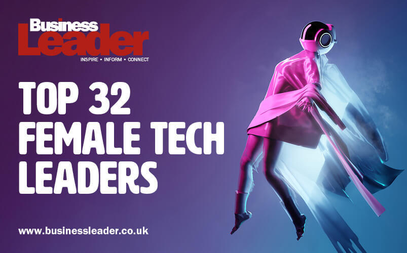 Top 32 Female Tech leaders Graphic