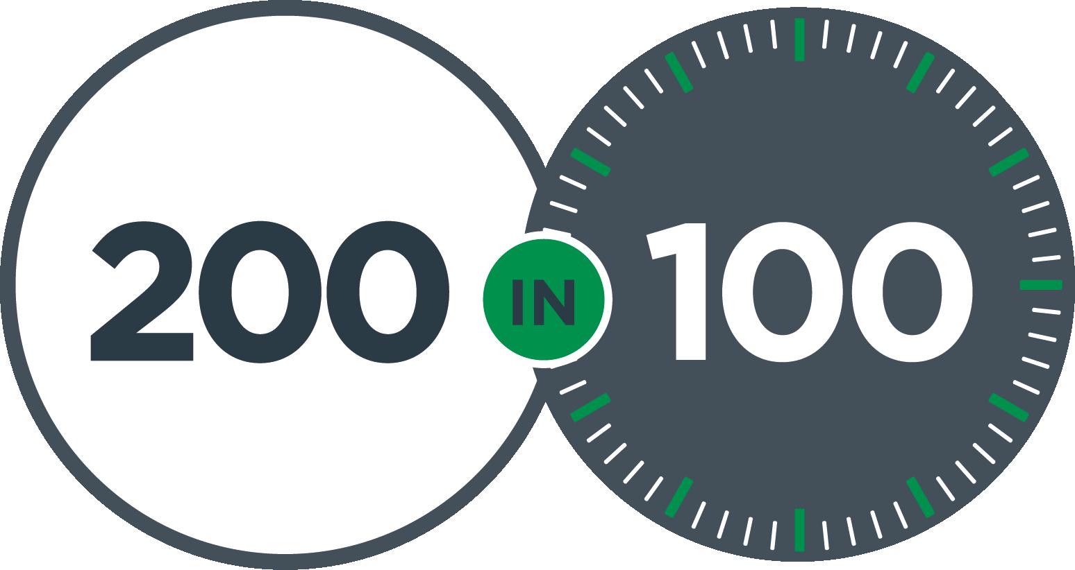 Weston College 200in100 logo