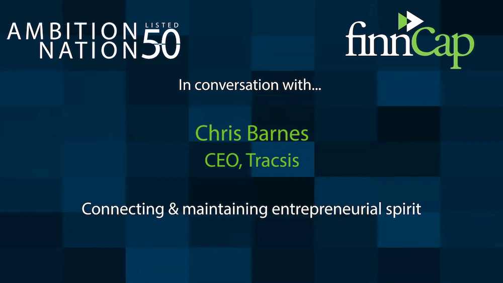 finnCap ambition nation conversation with Tracsis CEO Chris Barnes