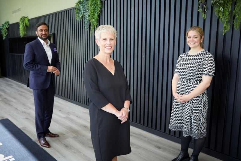 L-r Mo Isap, CEO of IN4.0 Group, Debbie Brown, Strategic Director of Service Reform at Salford City Council & Bella Copland, Director of Programmes at HOST