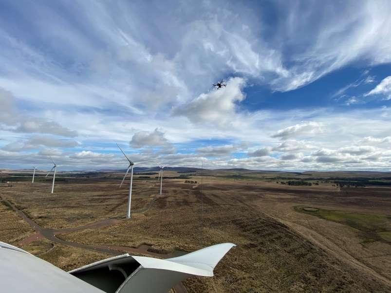 Drone and turbine